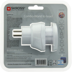 SKROSS Combo Steckeradapter World to Israel